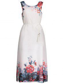 الشيفون أكمام الزهور ماكسي فستان الزفاف الزوار - أحمر