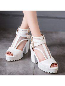 Mesh Peep Toe Sandals - White 38 cheap sale visit new buy cheap price pay with visa for sale rXov8xOS