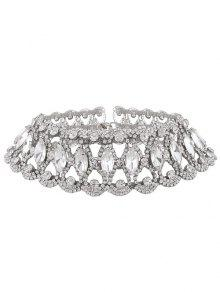 Faux Collar Gargantilla Diamante - Plata
