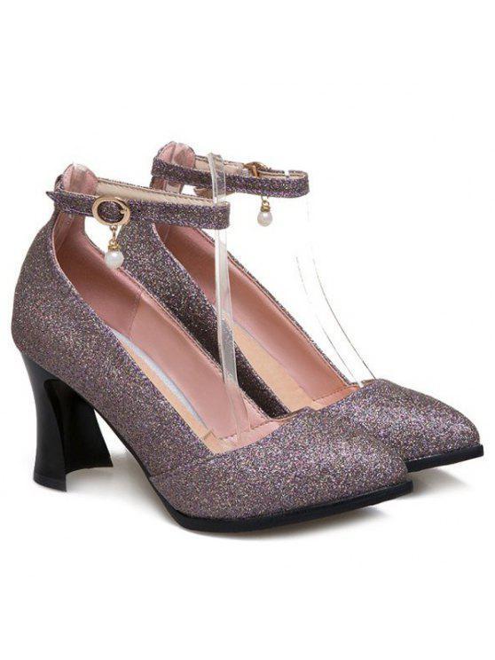 Ankle Strap étrange style Pompes - Pourpre 38