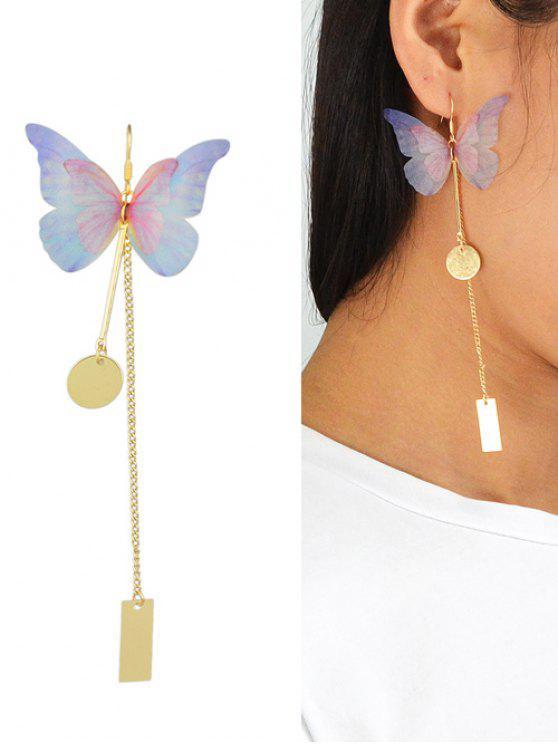 قطعة واحدة حلق الفراشة - ذهبي