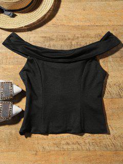 Camisa Corta Hombro - Negro S