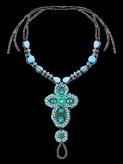 Perlas De Imitación Del Grano Del Rhinestone Para El Tobillo - Verde