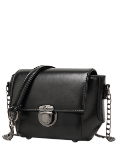 Mini Cross Body Bag Con Cadenas - Negro