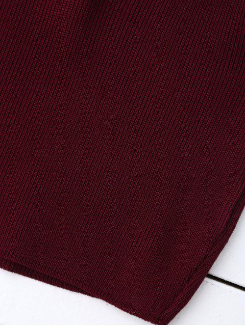 sale Knitting Cropped Tank Top - CLARET  Mobile