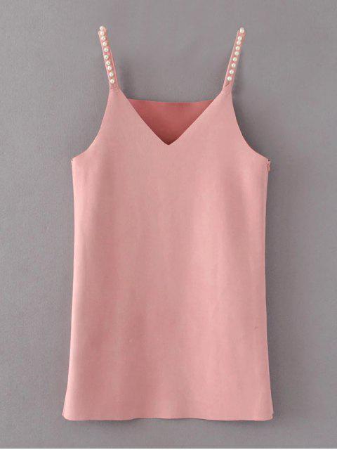 Wulstige Faux-Veloursleder-Beleg-Kleid - Rosa M Mobile