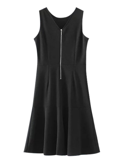 Peplum Hem Vestido tubo sin mangas - Negro S Mobile