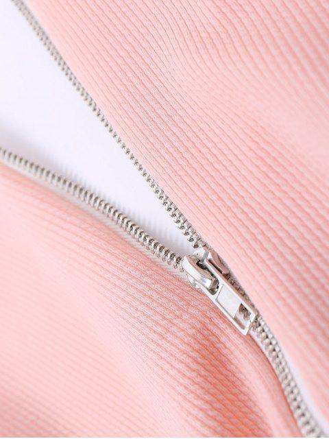 Belled Sleeve Mini Robe moulante - Orange Rose M Mobile