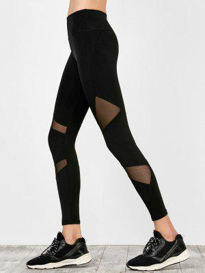 High Waist Mesh Panel Running Leggings