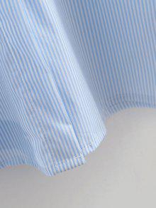 Camisa Rayada Autoamarre Claro Azul L Novio vU7n7qBxZ