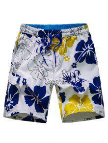 الرباط سراويل الخصر الزهور مجلس - أزرق L