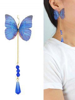 Teardrop Butterfly Earring - Blue