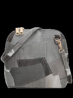 Zip Around Color Blocking Cross Körper Tasche - Grau