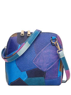 Recorro Color Bloqueo Cross Body Bag - Azul