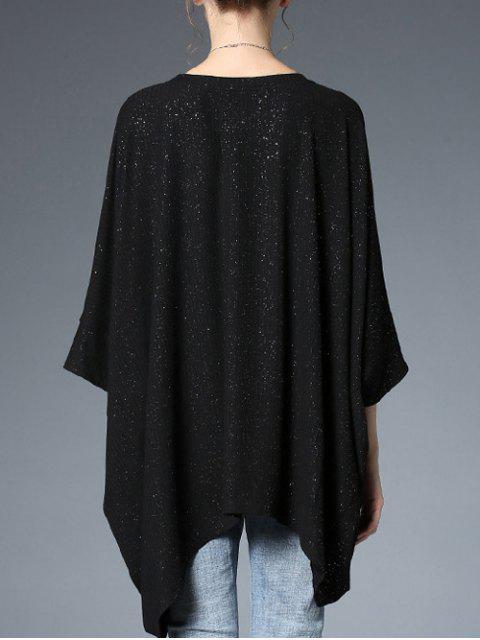 Haut batwing surdimensionné à paillettes - Noir TAILLE MOYENNE Mobile
