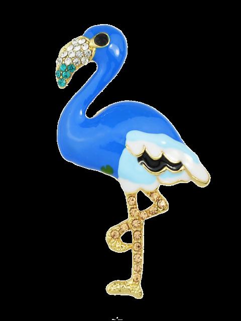 online Enamel Bird Rhinestone Brooch - BLUE  Mobile