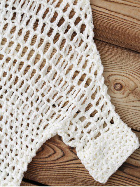 Cache-maillots en crochet évidé - Blanc TAILLE MOYENNE Mobile