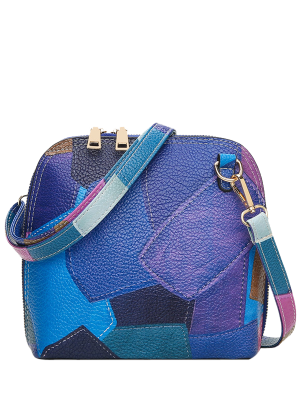 Zip Around Color Blocking Cross Körper Tasche