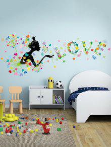 للإزالة الفينيل الهندباء ملصقات الحائط لغرفة النوم - 60 * 90cm