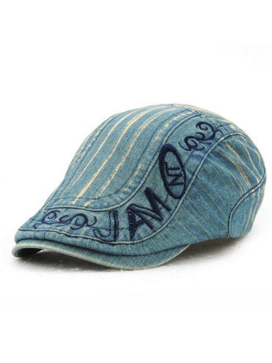 الرسالة التطريز هل القديم الدنيم النسيج قبعة كاب للرجال - أزرق فاتح