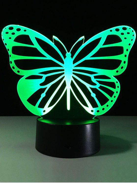 3d فراشة لون تغيير ليد لمس ضوء الليل - شفاف