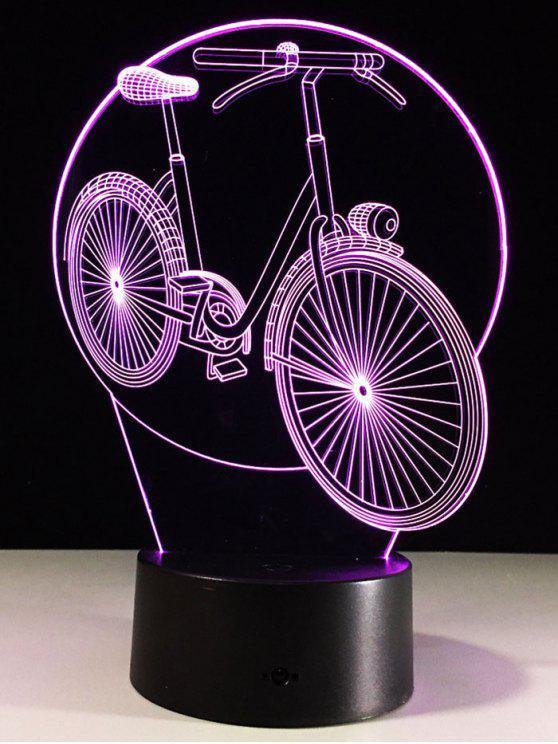 الجدول ديكور 3d الدراجة شكل اللون تغيير الصمام ليلة ضوء - شفاف