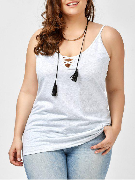 8f9c77745e388 2019 Plus Size Caged Cami Tank Top In SMOKY GRAY 4XL