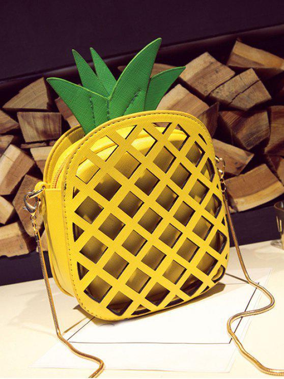 Funny Pineapple Shaped Crossbody Bag - Yellow