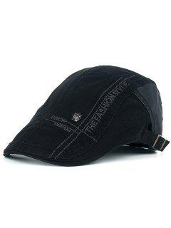 Skull And Embroidery Embellished Jeff Cap - Black