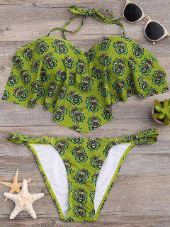 Ensemble Bikini Imprimé Avec Armature Et à Volants - S