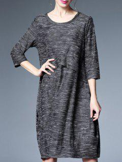 Oversized Heathered Glitter Dress - Deep Gray