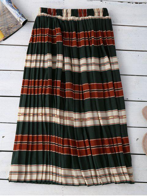 unique Striped Pleated Skirt - COLORMIX ONE SIZE Mobile