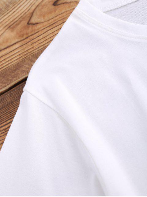Blouson à ceinture élastique et à lacets - Blanc M Mobile