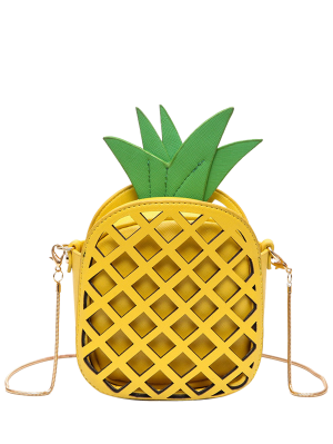 Funny Pineapple Shaped Crossbody Bag