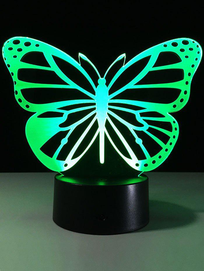 Papillon 3D Changement de couleur LED tactile Night Light