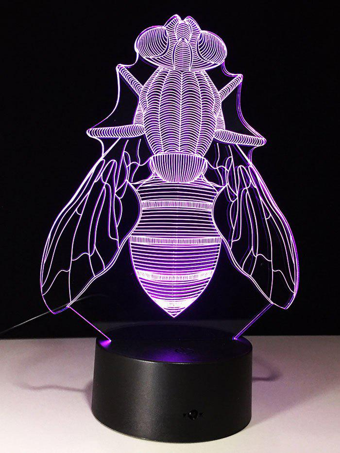 3D Visual Fly Shaped LED Color Change Night Light 209707501