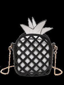 Funny Pineapple Shaped Crossbody Bag - Black