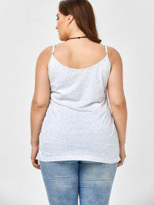 7cc55bc7703c6 2019 Plus Size Caged Cami Tank Top In SMOKY GRAY 5XL