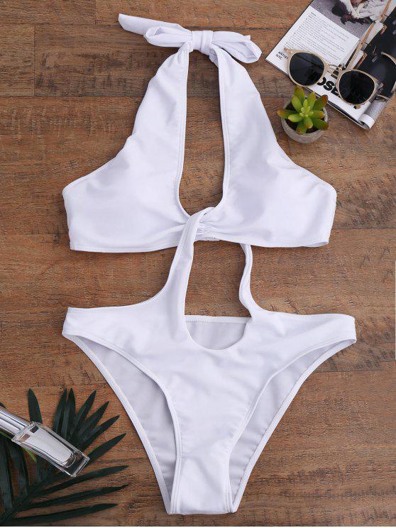 ثقب المفتاح تفكيكها ملابس - أبيض M