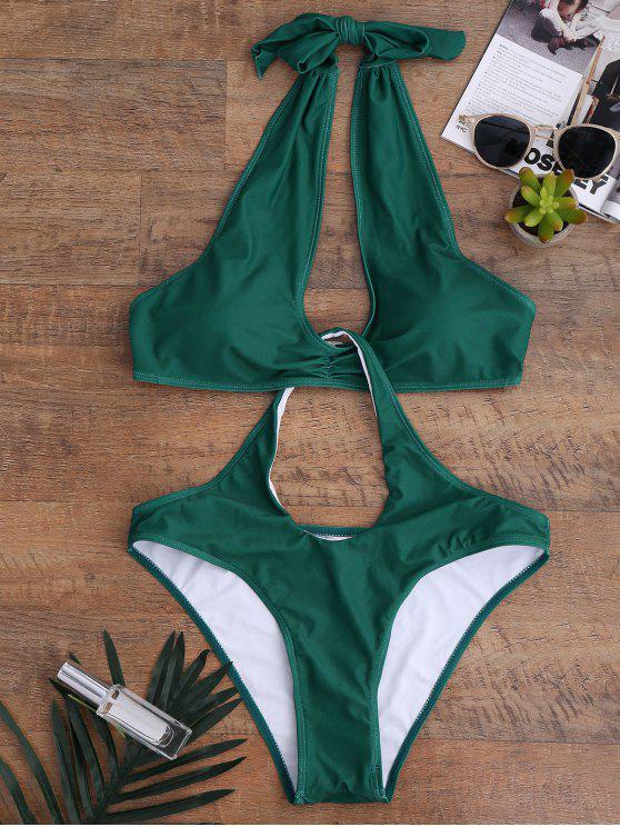 ثقب المفتاح تفكيكها ملابس - أخضر L