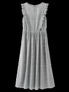 Vestido De Encaje Con Volantes De Corte Por Láser - Gris S