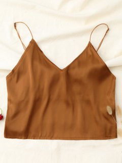 Cropped Tank Top - Khaki S