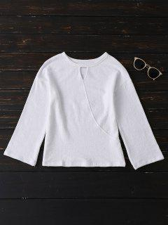 Long Sleeve Cut Out Tee - White