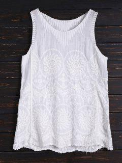 Embroidered Tank Top - White