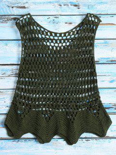 Crochet See Thru Tank Top - Green