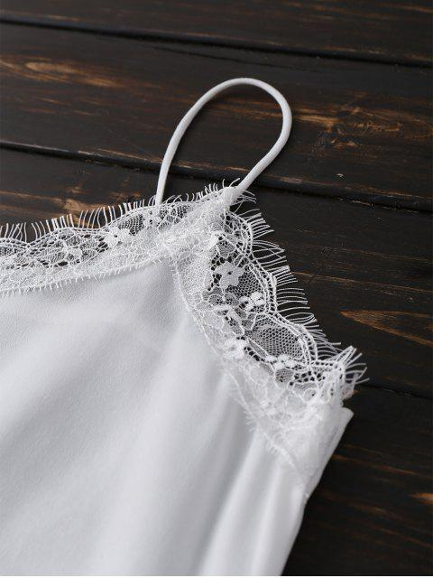 outfit Satin Lace Trim Cami Top - WHITE 2XL Mobile