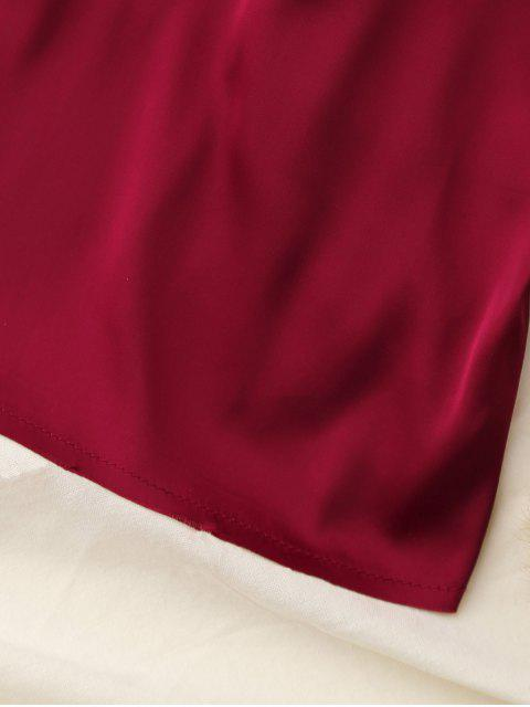 outfits Cropped Tank Top - WINE RED S Mobile