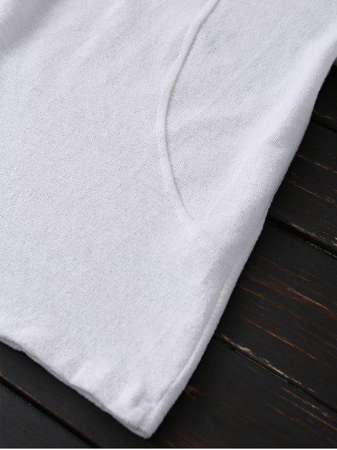 trendy Long Sleeve Cut Out Tee - WHITE ONE SIZE Mobile