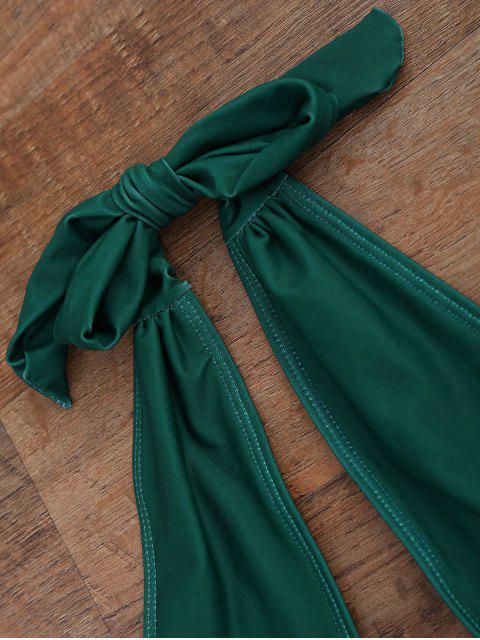 women's Keyhole Disassembled Swimwear - GREEN M Mobile