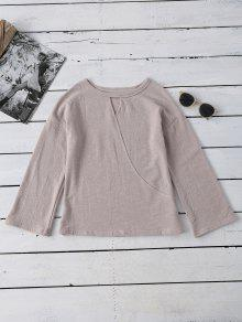 Long Sleeve Cut Out Tee - Apricot